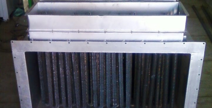 Duct With Finned Tubular Heater